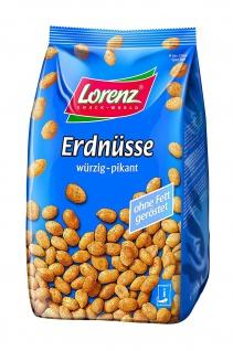 Lorenz Snack World Erdnüsse würzig-pikant Stehbeutel, 3er Pack (3x 1 kg)