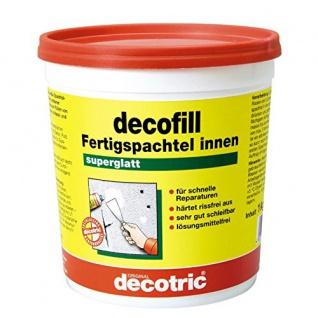 Decotric Decofill Fertig Spachtel, innen für Wand und Decke 1000g