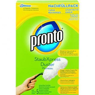 Pronto StaubXpress Nachfüllpack ohne Griff, austauschbare Faserköpfe, 5-teilig (1 Set)