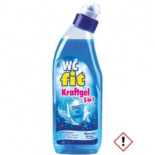Fit WC Kraft Gel 5 in 1 Meeresbrise mit lang anhaltender Frische 750ml