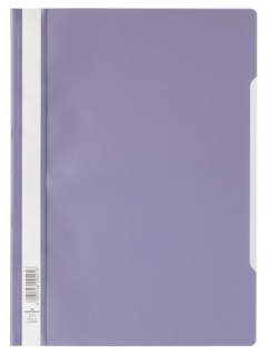 DURABLE Sichthefter mit transparentem Vorderdeckel lila DIN A4 50 Stück