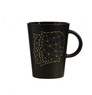 Zauberwerk Kaffeebecher mit Untertasse 380 ml Sternzeichen Zwilling
