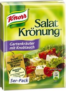 Knorr Salatkrönung Gartenkräuter mit Knoblauch 1 x 5-er-Pack