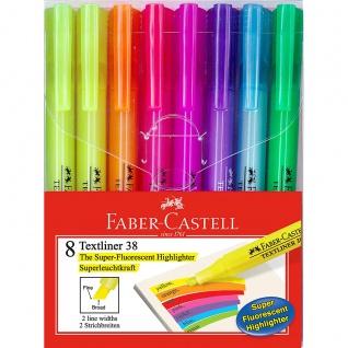 Faber Castell Highlighter Fasermaler Textmarker Textliner 8er Etui