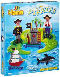Hama 3229 - Geschenkpackung Piraten, circa 3000 Bügelperlen und einer Stiftplatte