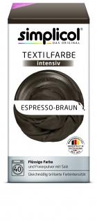 Simplicol Fluessige Textil-F. Intensiv Espresso Braun