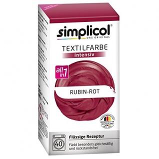 """Simplicol Textilfarbe intensiv all in 1 -Flüssige Rezeptur """" Rubin-Rot"""" Neu! - Vorschau"""