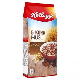 Kelloggs 5 Korn Müsli Choco Cerealien mit Schokoladenstücken 2000g