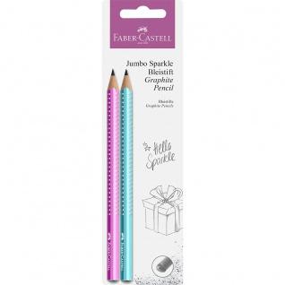 Faber Castell Graphite Pencil Bleistift Jumbo Grip Sparkle Pearl