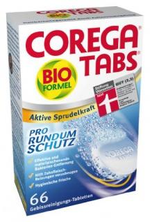 Corega Tabs Bioformel 66 St Gebissreinigungstabletten 2er Pack