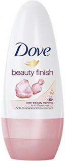 Dove Deo Roll-On Beauty Finish Anti-Transpirant, 6er Pack (6x 50 ml)