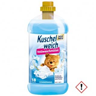 Kuschelweich Vollwaschmittel Sommerwind für 18 Waschladungen