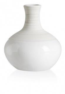 Ritzenhoff und Breker Vase aus der Serie Anna Keramik weiß 10cm