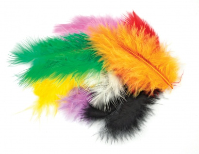 Meyco Marabu Federn in bunten Farben 17 Stück circa 10 bis 12cm lang