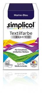 """Simplicol Textilfarbe expert -Für kreatives, einfaches Färben - 1708 """" Marine-Blau"""" Neu!"""