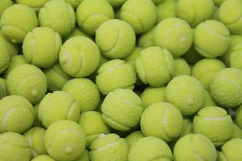 Fini Tennis Balls Bubble Gum mit flüssiger Zitronen Füllung 1000g