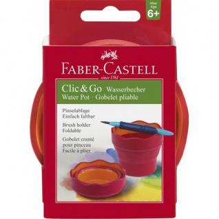 Faber Castell Water Cup Wasserbecher Clic und Go Brombeer Faltbar