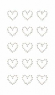 Rico Design Paper Poetry Perlen-Sticker Herzen selbstklebend