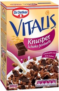 Dr Oetker Vitalis Knuspermüsli mit Schokoladen Stückchen feinherb 600g