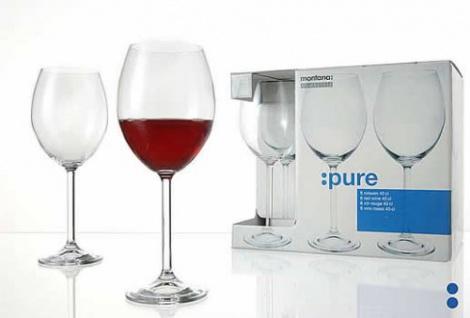 Rotweinglas Weißweinglas Weinkelch Montana Serie Pure 100 ml 6er Set