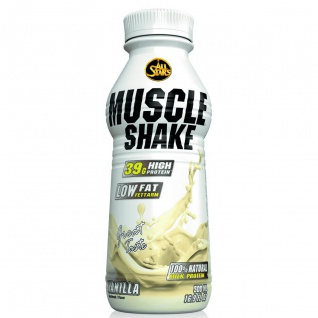 All Stars Muscle Shake Vanille Low Fat Protein Ready To Go 500ml