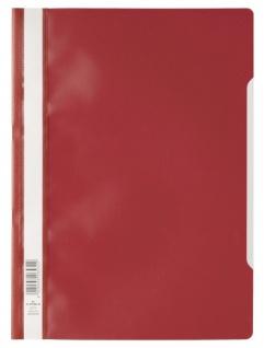DURABLE Sichthefter mit transparentem Vorderdeckel rot DIN A4 50 Stück