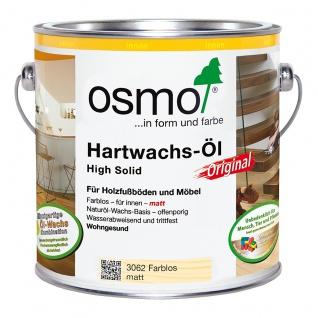 Osmo Hartwachs Öl farblos matt ideal für alle Holzfußböden 2500ml