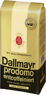 Dallmayr entcoffeiniert ganze Bohnen feinster Arabicakaffee 500g