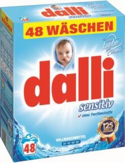 Dalli Sensitiv Waschmittelpulver, 48WL, 3, 12kg