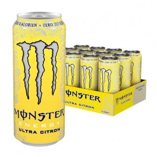 Monster Energy Ultra Zitrone Erfrischungsgetränk 500ml 12er Pack