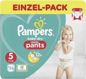 Pampers BABY DRY PANTS Windeln Gr.5 Junior 12-17kg Einzelpack 26ST