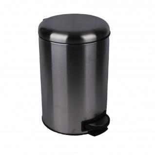 Abfalltreteimer Edelstahl 12 Liter Volumen mit Pedale zum leichten Öffnen