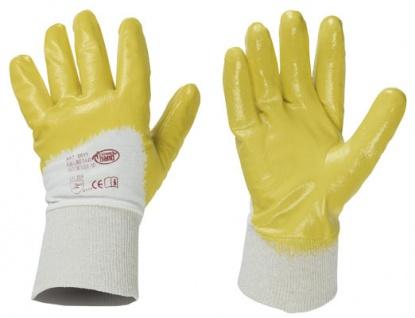 1 Paar Strong Hand Gelbstar Nitril Schutzhandschuh Arbeitshandschuhe Gr. 7 - Vorschau