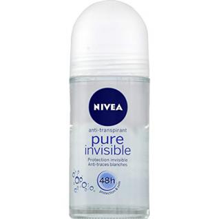Nivea - Pure Invisible - Déodorant soin douceur, protection invisible 24h - Le roll-on de 50ml - (for multi-item order extra postage cost will be reimbursed)