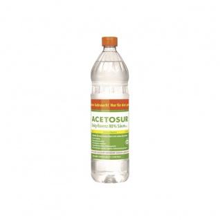 Acetosur Essig Säure 80 Prozent hohe Spitzenqualität Kanister 1 Liter
