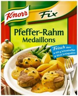Knorr - Fix für Pfefferrahm - Medaillons pfeffrig Cremig 35g, 24er Pack