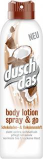 Duschdas Body Lotion Spray & Go Schokoladen & Kokosnussduft 6er Pack