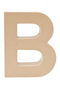 """Pappmache Buchstabe """" B"""" stehend zum basteln kreativ Rico Design Idee"""