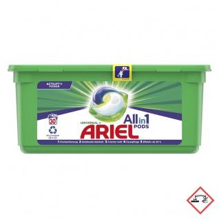 Ariel All in 1 Pods Universal Vollwaschmittel für 30 Waschladungen