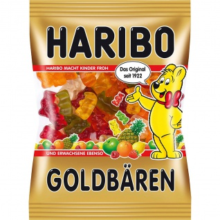 Haribo Goldbären in 6 fruchtig verschiedenen Geschmacksrichtungen 100g