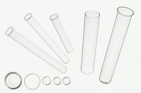 Glasröhrenvase einzeln von Sandra Rich Serie TEST TUBES Höhe 14 cm