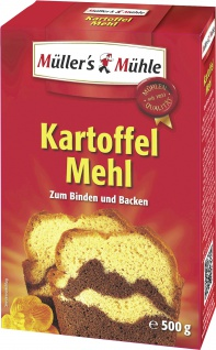 Müllers Mühle Kartoffelmehl für Suppen Desserts und Teig 500g