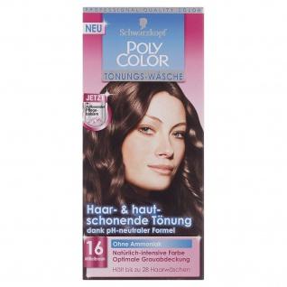 Schwarzkopf Poly Color Tönungs Wäsche 16 Mittelbraun zur Grauabdeckung