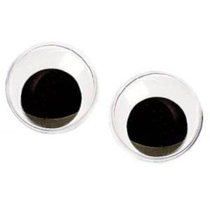 Wackelaugen rund bewegliche Pupille Durchmesser 16mm 10 Stück