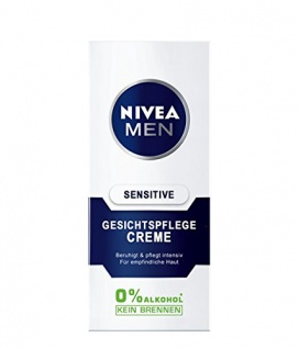 Nivea For Men Gesichtscreme Sensitiv mit Kamille und Hamamelis 75ml 6er Pack