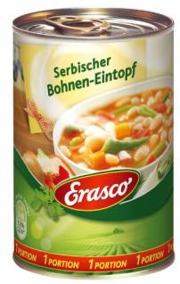 Erasco Serbischer Bohnen-Eintopf mit Rauchspeck extra Scharf 400g