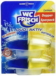 WC Frisch Duo Aktiv Duftspüler Lemon Nachfüllpack langanhaltende Hygiene 2 Stück