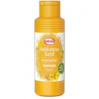 Hela Delikatess Senf mittelscharf für Fleich und Wurst 300ml