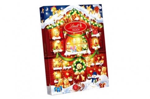 Lindt Teddy Adventskalender mit Alpenmilch Schokolade gefüllt 345g