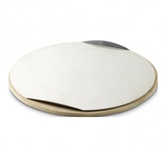 Weber Stephen Pizzastein rund durchmesser 36 Komma 5cm Farbe Silber